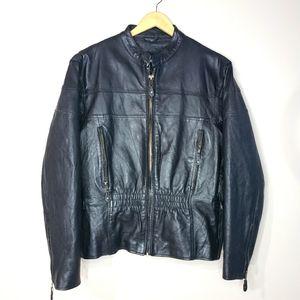 USA Bikers Dream Apparel XXLarge Black Leather Moto Jacket